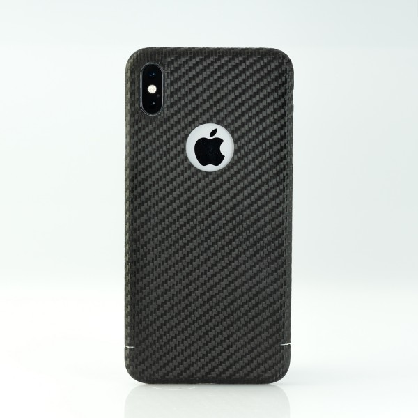 Carbon Cover iPhone Xs Max mit Logo-Window