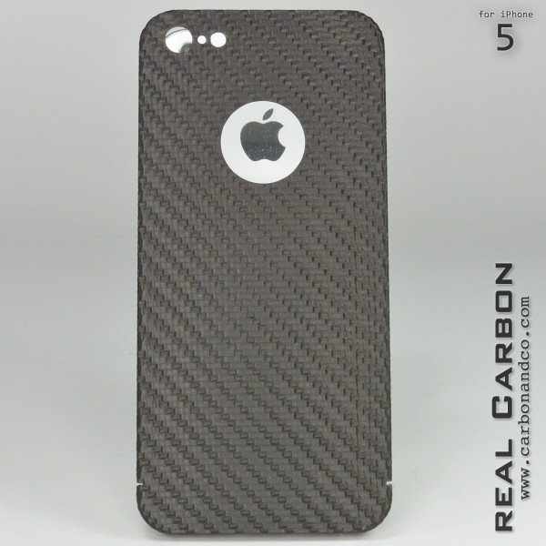 Carbon Cover iPhone 5 mit Logo Window