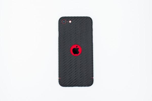 Carbon Cover iPhone SE 2020 mit Logo Window