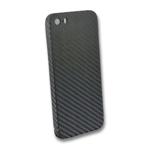 Carbon Cover iPhone SE 2016 mit Logo Window